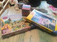 Girls puzzle and game bundle