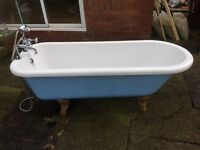 Free standing bath with mixer taps and shower head, 67x27 inches, very good condition