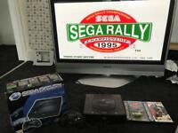 SEGA SATURN console and 2 Games boxed