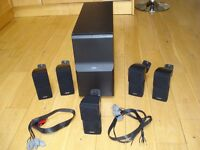 Bose Acoustimass 10 complete with 5 double cube speakers