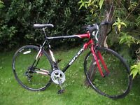 reflex racing bike,22 in frame,runs well,tidy bike