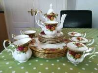 Royal Albert Old Country Roses Coffee Set, 20 pieces