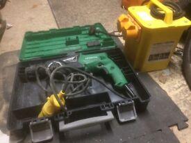 Hitachi sds drill 110v with transformer