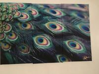 Lawrence Llewelyn Bowen canvas peacock picture