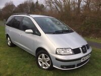 SEAT ALHAMBRA DIESEL AUTOMATIC 7 SEATS 53 REG IN SILVER, SERVICE HISTORY, CAMBELT CHANGE 07867955762