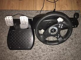 Thrustmaster PC/Console wheel and pedals