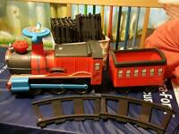 Toddler ride on train and track