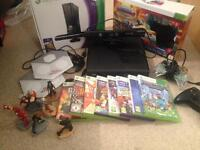 Xbox 360 slim 4gb boxed with Kinect and more