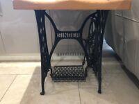 Singer Table, Chair & Mirror