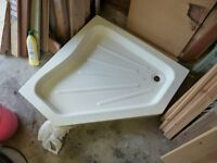 Shower tray new ceramic stone pentangle shape