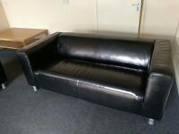 2 real leather sofa in very good condition