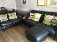 DFS 3 seater + 2 seater Leather Sofas