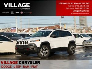 2017 Jeep Cherokee Trailhawk|Nav|TOW|Leather|Vent&Memry Seats|Re