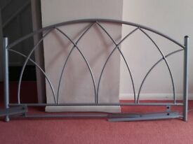 Headboard for Double Bed - Grey Aluminium - £5.00