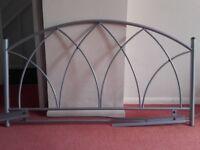 Headboard for Double Bed - Grey Aluminium - £5.00