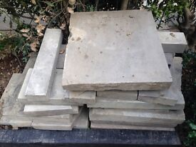 Reclaimed sawn york stone approx 5 sq metres