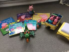 Peppa pig toy and book bundle