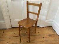 Vintage Childrens Wooden Chapel Chair Worn & Lovely (2 of 2 available)