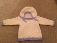 Baby boy knitted hoodie
