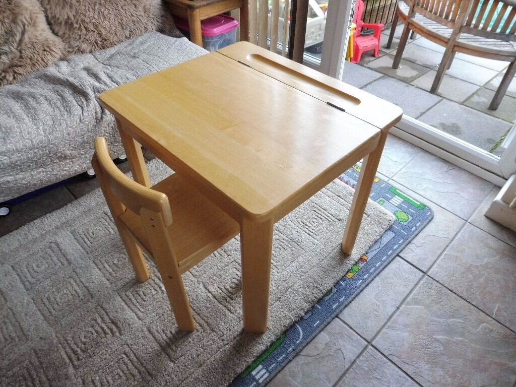 Childs Solid Wood Desk And Chair From John Lewis