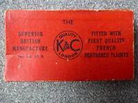 K&C Ltd 1950'S Original Brass and Feather Darts