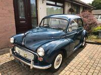 Morris minor 1000 for sale mot February 2017 recent engine rebuild