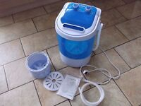 PORTABLE 230V MINI 3KG WASHING MACHINE WITH SPIN DRYER