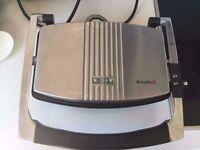 Used Breville 3 Slice Sandwich Maker & Panini Maker Toaster