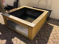 750l outdoor tank with metal lid