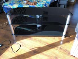 Black Glass 3 shelf T.V stand