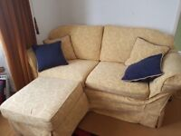 2 sofas and foot stool