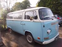 VW campervan 1972, New MOT new recon engine, tax exempt
