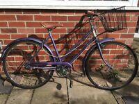 "Vintage Raleigh Dutch style town road bike bicycle ladies 16"" small medium frame"