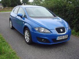 2010 Seat leon 1.6TDI SE CR long mot MINT top spec..