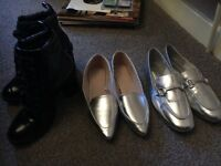 3 Pairs of Womens Shoes - Size 4/5