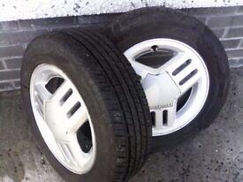 Nova GSI Wheels and center caps all good tyres