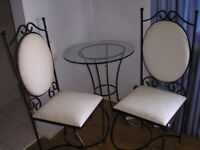 Wrought Iron Table and 2 chairs - Stratford-upon-Avon