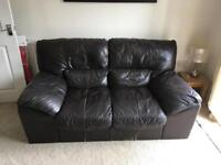 DFS Leather Sofa 2 Seater