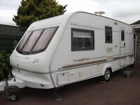Elddis Typhoon GT 4 berth caravan,full awning & caravan cover, great outfit.