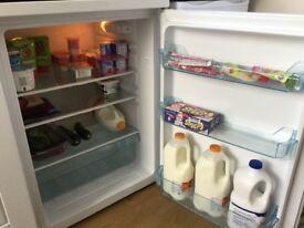 Lec under counter white fridge