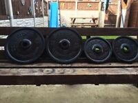 70KG OF OLYMPIC CAST IRON WEIGHT PLATES