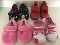 Baby girl shoes bundle size 4