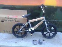 New Zombie Craze BMX Bike 16 inch Mag Wheels Chrome Exclusive - RRP £145