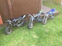 3x mini moto's