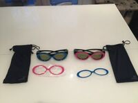 2 x kids Samsung rechargeable 3D Active glasses SSG-2200KR