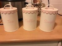 Tea coffee and sugar tins