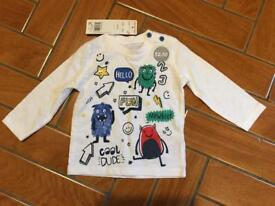 3-6 month Baby Long Sleeve Top