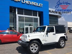 2015 Jeep Wrangler Sahara LOADED 4X4 NAV HEATED SEATS 2 TOPS!!!