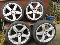 Audi / VW / Seat / Skoda T4 Transporter MOMO GTR 18 lnch (5 x 112) Alloys & 225/40/18 Ex Load Tyres