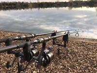 2 rod carp setup